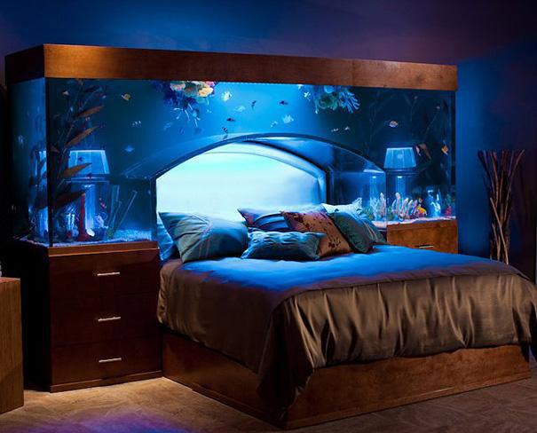 amazing-interior-design-ideas-for-home-bedroom aquarium blue 27