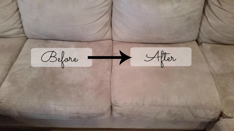 tired of seeing supposedly permanent stains and watermarks on your fibre couch try this diy. Black Bedroom Furniture Sets. Home Design Ideas