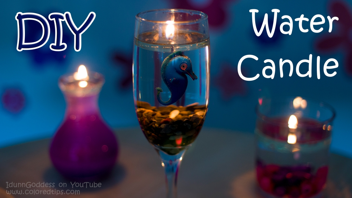 DIY Beautiful Burning Water Candle: How to