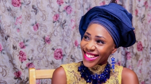 Nigerian traditional marriage bride smiling